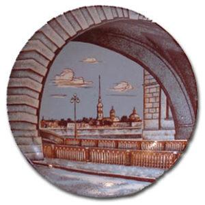 Assiette murale Saint-Pétersbourg (Z19-02)