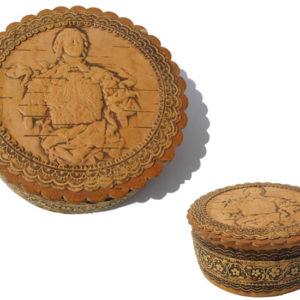 bb1028 – Boîte en écorce de bouleau Pierre le Grand