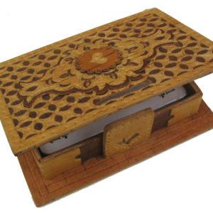 bb1037 – Boîte en écorce de bouleau (Beresta russe) Porte-cartes