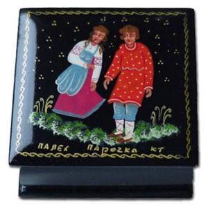 0116 – Boîte laquée 'conte russe' – La paire