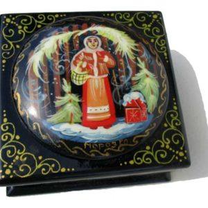 Boîte laquée russe à bijoux (Z17bo0213)