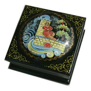 Boîte laquée russe à bijoux 'Emelia russe' (Z17bo0227)