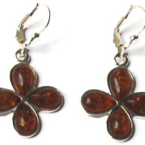 amb082 – Boucles d'oreilles ambre d'or 'Klever'