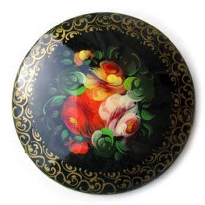 Broche d'artisanat russe en bois – 1011
