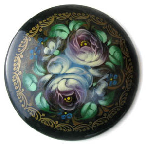 Broche d'artisanat russe en bois – 1025a
