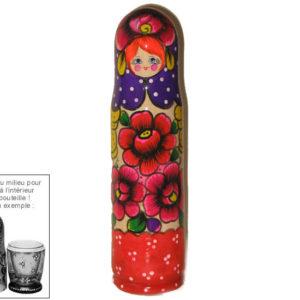 cb407 – Etui pour bouteille de vodka 50 cl – artisanat russe