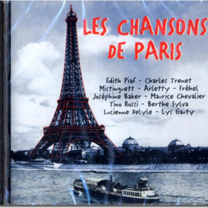 Cd audio LES CHANSONS DE PARIS