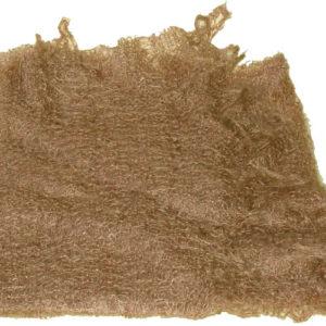 ch0925 – Châle d'Orenbourg (Oural) poil de chèvre Marron clair