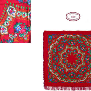 cht31351_5 – Châle traditionnel russe – 146×146 rouge