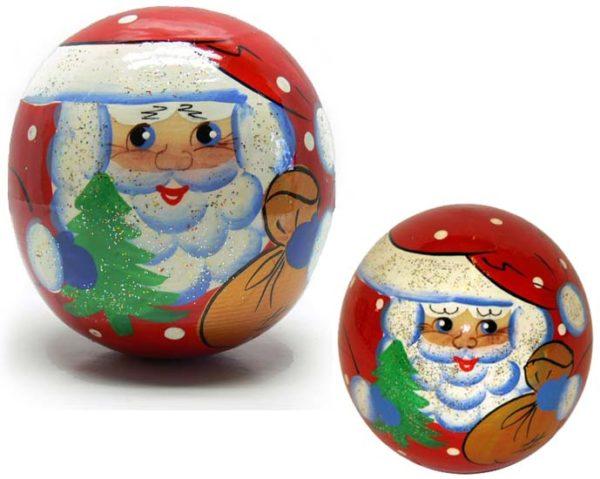 cu105 – Père Noël culbuto en bois pour les petits enfants