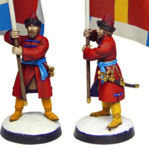 Figurine à peindre: Strelets porte-drapeau, 1660 (dbm1121)