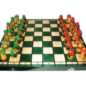 Jeu d'échecs russe damier vert