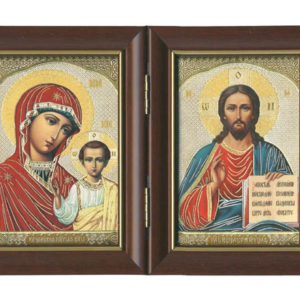 La Vierge et l'Enfant et Jésus Christ – Panneau Icône Diptyque