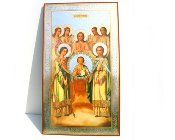 ico107o – Icône russe 'St. Archangel Mikhail' 42×24 cm