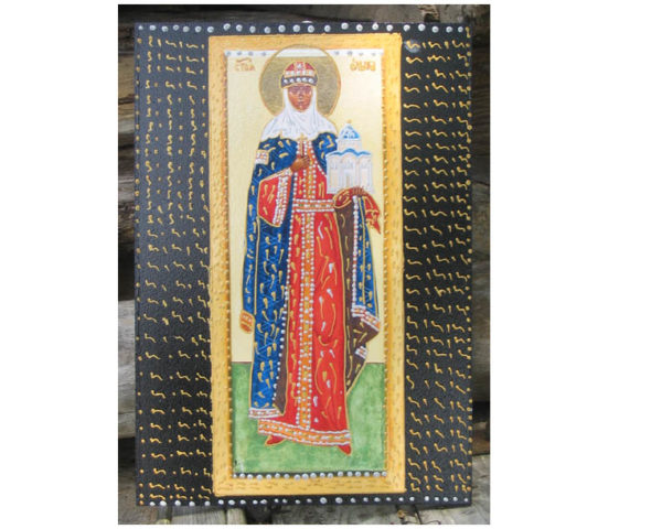 ico561 – Icône grand format 'Sainte Olga'