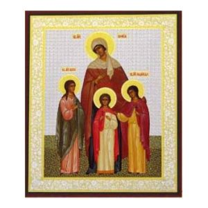 ico1081o – Icône russe 'Vera, Nadejda, Lyubov' 18×22 cm