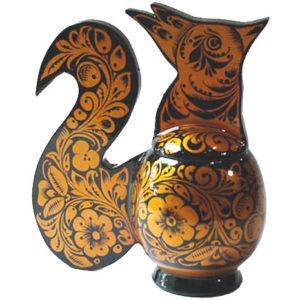 kho1009 – Oiseau de feu en bois peint de Khokhloma