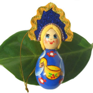 m014b – Figurine poupée russe – pour le sapin de Noël (Ladia)