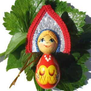m015 – Figurine poupée russe – pour le sapin de Noël (Lapti)