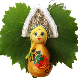 m016b – Figurine poupée russe – pour le sapin de Noël (Riabinka)