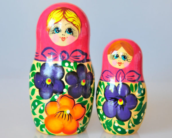 Matriochkas pour bonbons ou dragées, 2 pièces (K3MBO-04)