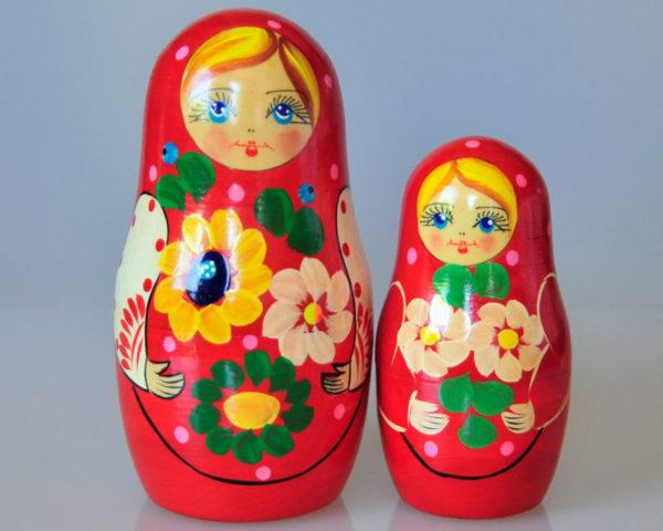 Matriochkas pour bonbons ou dragées, 2 pièces (K3MBO-01)