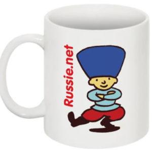 "Grande tasse ou mug ""Russie.net"" 250ml (C2)"