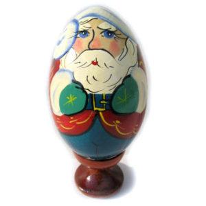 oa143 – Oeuf en bois peint – Père Noël