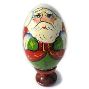 oa144 – Oeuf en bois peint – Père Noël