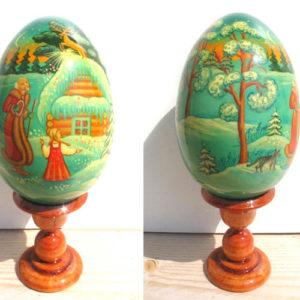 Oeuf en bois peint – Père Mazai – 11 cm (FC-OE2522)