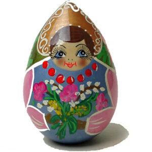 Oeuf en bois peint  'La Pâques russe'  (FC-OE391008)