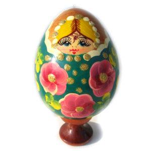 Oeuf en bois peint  'La Pâques russe' (FD-391009)