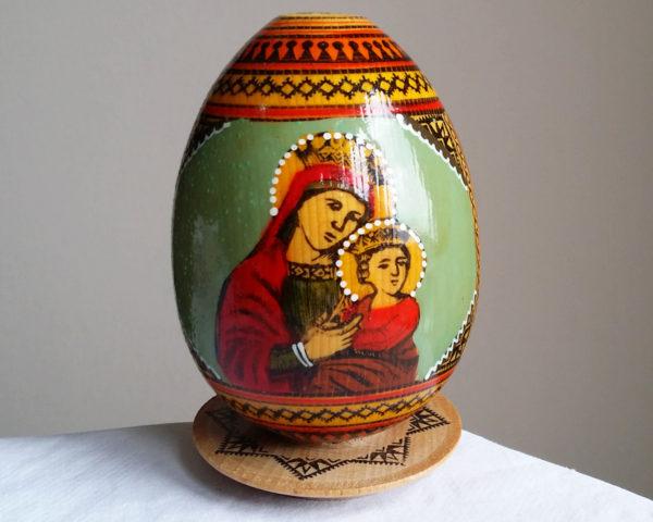 Oeuf ukrainien Pyssanka religieux (FG-OEUK1)