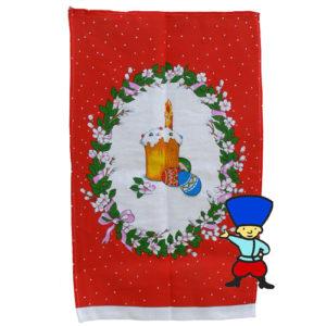 Le carré de tissu 'La Paque orthodoxe' rouge – 45×75 cm