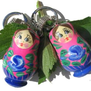 pc01g – Matriochka porte-clé rose 'Yagodka'