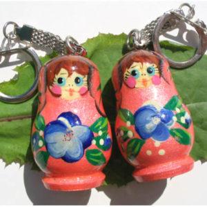 pc11a – Matriochka porte-clé nacre 'Rosa'