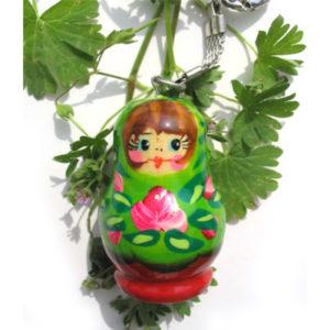 pc11g – Matriochka porte-clé vert 'Rosa'