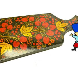 pl14 – Planche à découper russe décorative – Kokhloma