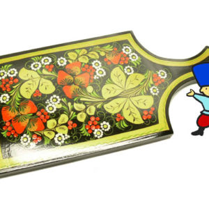 pl16 – Planche à découper russe décorative – Kokhloma