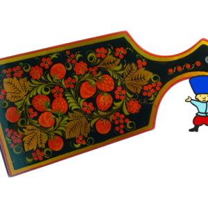 pl56 – Planche à découper russe décorative – Kokhloma