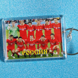 Porte-clef équipe de Russie de football (rouge)