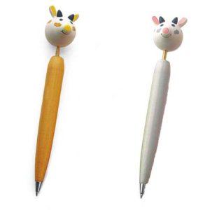 Cochon : stylo en bois – Jouet russe