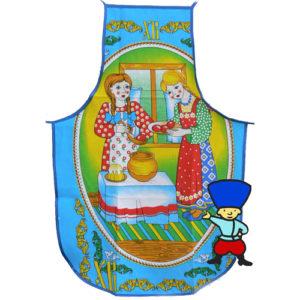 tabl51 – Tablier russe 100% coton 'Repas de Pâques'