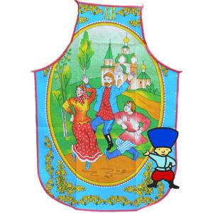 tabl53 – Tablier russe 100% coton 'La joie de Pâques'