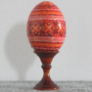 uk10 – Oeuf d'Ukraine 'Pyssanka' – ORANGE