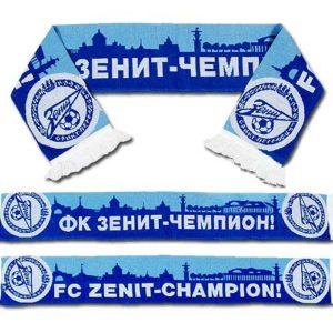 Echarpe russe supporter Zenit bleu-blanc 140 X 20 cm